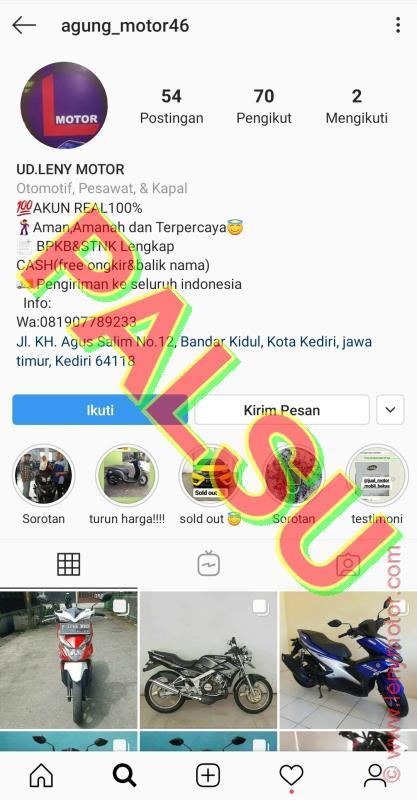 Himbauan Daftar Akun Instagram Palsu Hati Hati Penipuan Yang